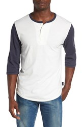 Brixton Men's 'Adam' Colorblock Three Quarter Sleeve Henley
