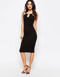 Daisy Street Bodycon Dress With Strap Detail Black