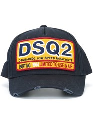 Dsquared2 Parachute Stamp Baseball Cap Blue