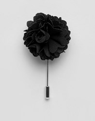 Noose And Monkey Flower Lapel Pin In Black Black