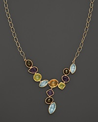 Bloomingdale's Multi Gemstone Necklace In 14K Yellow Gold 18