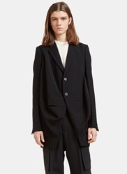 Rick Owens Orchid Single Breasted Draped Jacket Black