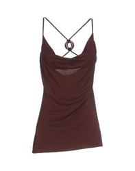 Fisico Cristina Ferrari Topwear Tops Women Dark Brown