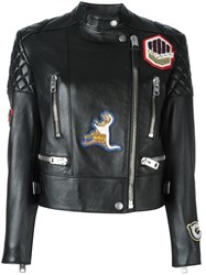 Coach Patched Biker Jacket Black