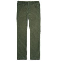 Massimo Alba Cotton Corduroy Trousers Green