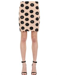 Marysia Polka Dot Scalloped Hem Lycra Skirt