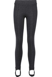 Brunello Cucinelli Stretch Wool Crepe Leggings Anthracite