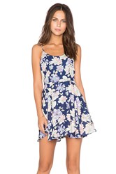 Lucca Couture Floral Tank Dress Blue