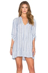 Cp Shades Regina Striped Tunic Dress Blue