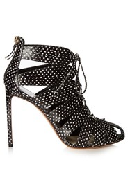 Francesco Russo Cutaway Snakeskin Ankle Boots Black White