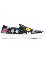 Anya Hindmarch Multi Patch Sneakers Black