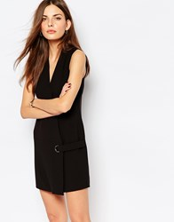 Vero Moda V Neck Wrap Shift Dress Black