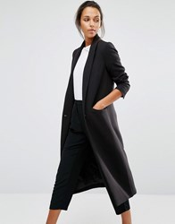 Selected Longline Tailored Coat Black