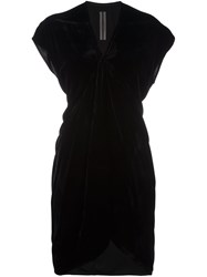 Rick Owens Draped V Neck Dress Black
