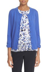 Kate Spade Women's New York 'Somerset' Cotton Blend Cardigan Ensemble Blue
