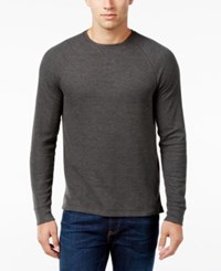 Club Room Men's Waffle Knit Thermal Shirt Only At Macy's Charcoal Heather