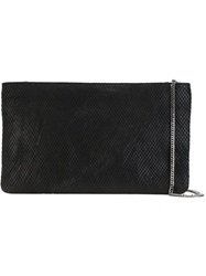 Orciani Textured Clutch Black