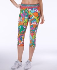 Trina Turk Jungle Flower Printed Cropped Leggings Multi