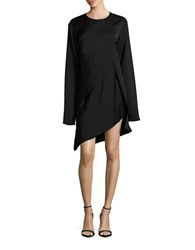 Dkny Stretch Silk Tunic Black