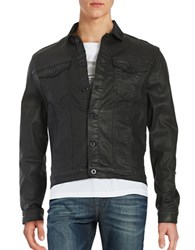 Calvin Klein Jeans Coated Denim Jacket Charcoal