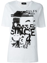 Dsquared2 'Dyed Rules' T Shirt White