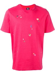 Paul Smith Ps By Pill Print T Shirt Pink Purple