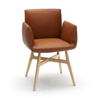 Jalis Chair With Arms Wood Base Dining Chairs Chairs