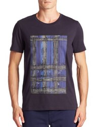 Burberry Short Sleeve Graphic Tee Navy