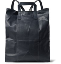 Berluti Origami Convertible Leather Backpack Midnight Blue