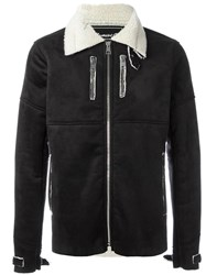 Numero00 Faux Shearling Jacket Black