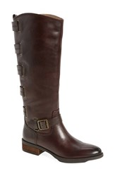 Sole Society Women's 'Franzie' Leather Knee High Boot Dark Brown