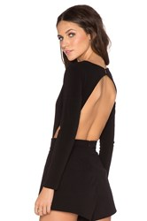 Mlm Label Long Sleeve Openback Bodysuit Black