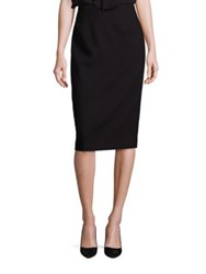 Escada Wool Pencil Skirt Black