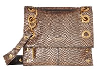 Hammitt Lsm Rev Zion Black Gold Cross Body Handbags Brown