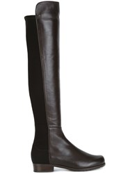 Stuart Weitzman '5050' Low Heel Boots Brown