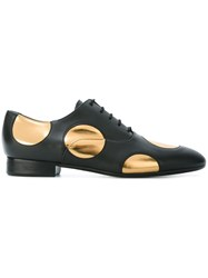 Marni Polka Dot Oxford Shoes Black