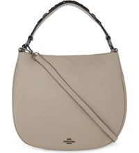 Coach Nomad Leather Hobo Bag Dk Grey Birch