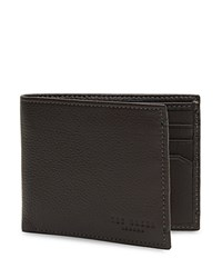 Ted Baker Davus Leather Wallet Charcoal