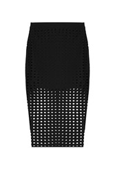 T By Alexander Wang Skirt With Cut Out Detail Black