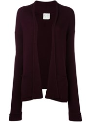 Forte Forte Ribbed Open Cardigan Pink And Purple