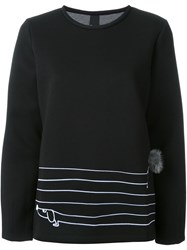 Mother Of Pearl Striped Sweatshirt Black