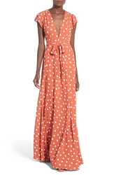 Women's Tularosa 'Sid' Polka Dot Wrap Maxi Dress
