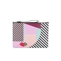 Lulu Guinness Women's Anna Doll Face Large Clutch Multi