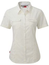 Craghoppers Nosilife Adventure Short Sleeved Shirt White