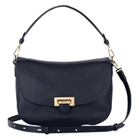 Aspinal Of London Letterbox Slouchy Saddle Bag Navy