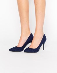 New Look Heeled Court Shoe Blue