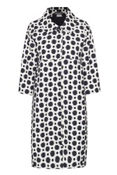 James Lakeland Polka Dot Long Coat White