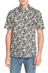 Men's Marc Jacobs Extra Trim Fit Bamboo Print Short Sleeve Shirt