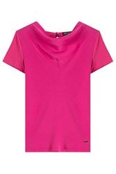 Salvatore Ferragamo Cotton Top With Bow Pink