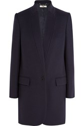 Stella Mccartney Bryce Wool Blend Coat Midnight Blue